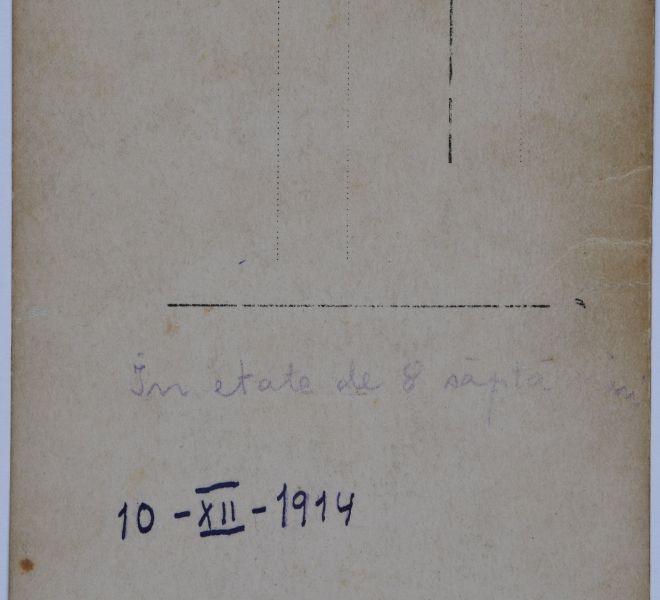 Verso-ul fotografiei cu Valeria dr. Pintea și fiica Valentina, 1914
