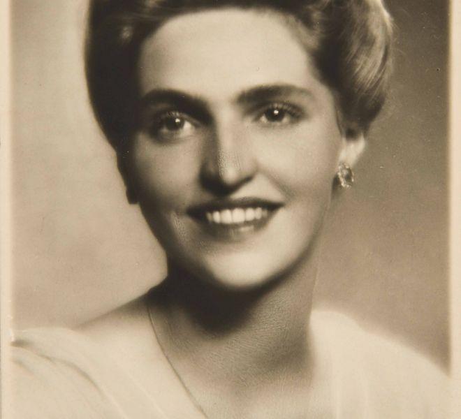 Carla Diel, fiica lui Netti și a lui Lajos/Ludwig, căsătorită cu dr. Pius Brânzeu, fotografie de la sfârșitul anilor `30